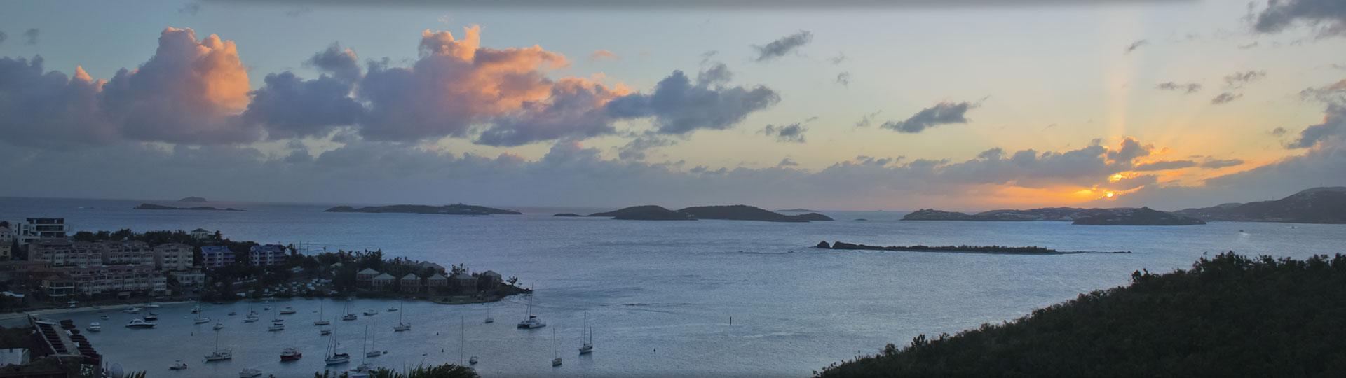 Cruz Bay, St John sunset