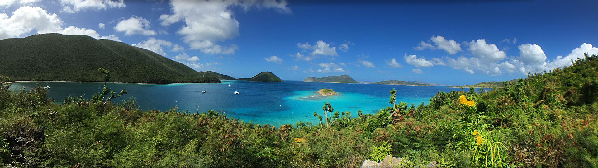 Waterlemon Cay St john panorama