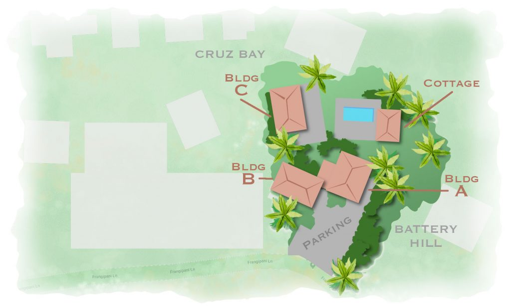 Battery Hill Condos, Cruz Bay, St John USVI map